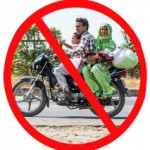 family on motorbike india sign lp