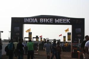 India Bike Week entrance