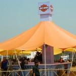 India bike week Harley Davidson tent